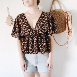 Zara | Fall Floral Blouse